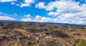 Volcanoes National Park. Panorama of Volcanoes National Park in Hawaii, Big Island Stock Images