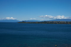 Volcanoes Osorno and Calbuco - Puerto Varas - Chile Stock Images
