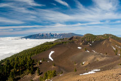 Volcanoes route La Palma canary islands, Spain Royalty Free Stock Images
