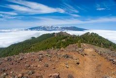 Volcanoes trasy losu angeles Palmy wyspy kanaryjska, Hiszpania Obrazy Stock