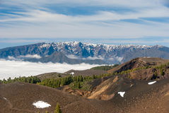 Volcanoes trasy losu angeles Palmy wyspy kanaryjska, Hiszpania Zdjęcie Stock