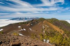 Volcanoes trasy losu angeles Palmy wyspy kanaryjska, Hiszpania obraz stock