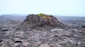 Volcanoes and volcanic fields. Crater, runion, rock royalty free stock photos