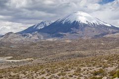 Volcanos at Andes Stock Images