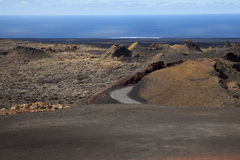 Volcanos in Lanzarote in Spain Royalty Free Stock Photography