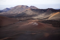 Volcanos in Lanzarote in Spain Stock Photos