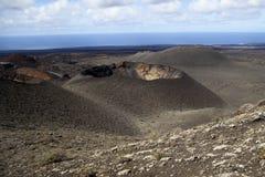 Volcanos in Lanzarote in Spain stock images