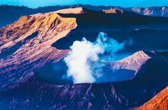 Volcanos Mount Semeru and Bromo in East Java. Volcanos Mount Bromo in East Java, Indonesia, Southeast Asia stock photography