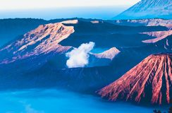 Volcanos Mount Semeru and Bromo in East Java. Indonesia, Southeast Asia royalty free stock photos