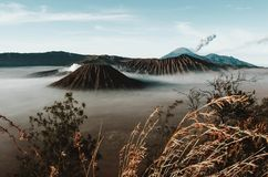 Volcanos Mount Semeru and Bromo in East Java. Indonesia, Southeast Asia stock photos