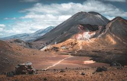 Volcanos on New Zealnd`s North Island royalty free stock photo