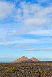 Volcanos in Timanfaya National Park in Lanzarote, Spain Royalty Free Stock Image
