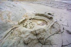Volcans de boue Images libres de droits