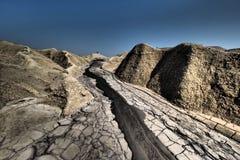 Volcans de boue image libre de droits