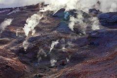 Volcans de boue et cônes de boue Photos stock