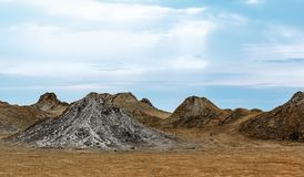 Volcans de boue de l'Azerbaïdjan photographie stock libre de droits