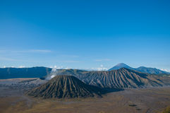 Volcans de parc national de Bromo, Java, Indonésie Photographie stock libre de droits
