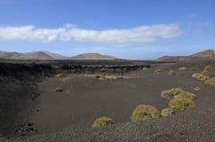 Volcans en parc national de Timanfaya, Lanzarote Images stock