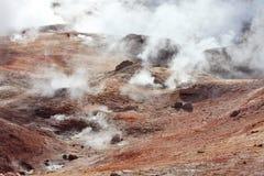 Volcans et geysers de boue Photo libre de droits
