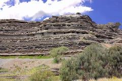 Volcantic rock cliff Stock Image