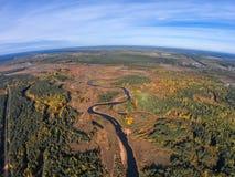 Volchina-Fluss bevor dem Fließen in den Fluss Mologa Lizenzfreies Stockbild