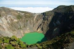 Irazu Volcano Crater Imagenes de archivo