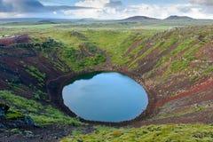 Volcán de Kerid Fotos de archivo