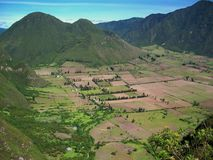 Volcán de Pululahua, Ecuador Foto de archivo libre de regalías