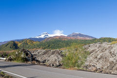 Volcán del Etna en otoño Foto de archivo libre de regalías