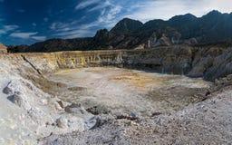 Volcán en Grecia Fotografía de archivo