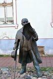 Voldemar Jannsen Memorial in Parnu, Estonia. Voldemar Jannsen 1819-1890 was a central figure in the estonian national Awaking Movement. He makes the first news stock photography