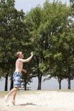 Voleibol da praia Foto de Stock