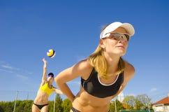 Voleibol da praia Fotografia de Stock