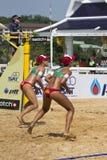 Voleibol da praia. Fotografia de Stock Royalty Free