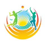 Voleibol da praia ilustração stock