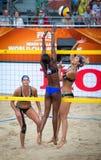Voleibol da praia Foto de Stock Royalty Free