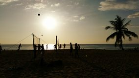 Voleibol da praia Phuket Fotografia de Stock