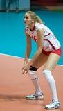 Voleibol das mulheres do russo Fotografia de Stock