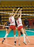 Voleibol das mulheres do russo Imagem de Stock Royalty Free