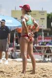 Voleibol de la playa. Fotografía de archivo libre de regalías