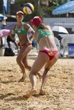 Voleibol de la playa. Imagen de archivo