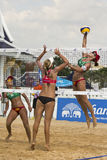 Voleibol de la playa. Imagenes de archivo