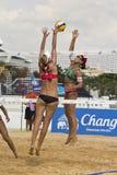 Voleibol de la playa. Imágenes de archivo libres de regalías