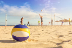 Voleibol de la playa Imagen de archivo