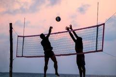 Voleibol de la playa imágenes de archivo libres de regalías
