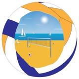 Voleibol de la playa cartel Imágenes de archivo libres de regalías