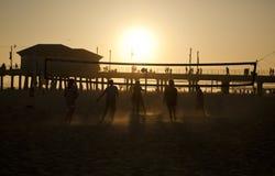 Voleibol de la playa en Huntington Beach Fotografía de archivo libre de regalías