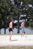 Voleibol de las personas Foto de archivo libre de regalías