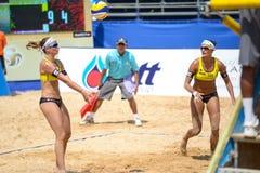 Voleibol de praia Foto de Stock