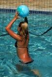 Voleibol del agua Foto de archivo libre de regalías